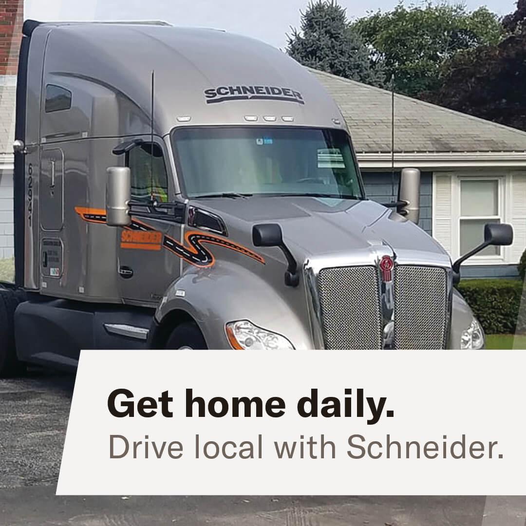 Class A CDL - Local Intermodal nighttime truck driver - San Bernardino, CA - Schneider